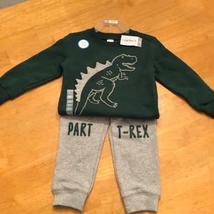 *BUY 1 GET 1* NWT Carter's T-Rex Set
